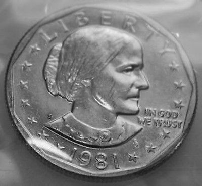 1981-S Susan B. Anthony Dollar From Mint Set SBA