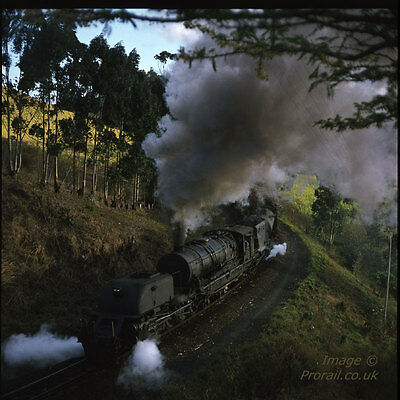 SOUTH AFRICAN RAILWAYS SAR 6x6 colour transparency 342601 GO Garratt in Zululand