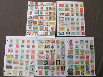 ~175 Caribbean Hinged On Pages- Unchecked - As Received - See Scans (N1)