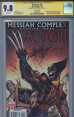 SS CGC 9.8 NM/M X-Factor 25 Wolverine Variant Sgnd by Campbell (Uncanny X-men)
