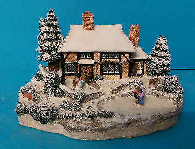 Winter by Kate Woodlock The Four Seasons Danbury Mint Cottage