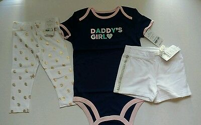 NEW CARTERS 3 piece lot toddler girl clothing 24 months/ 2t