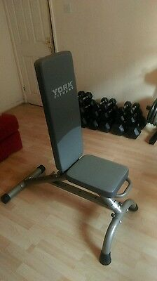 York fitness bench, flat/ incline weight bench.