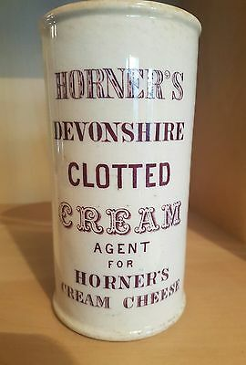 Purple print Horners Devonshire Clotted Cream Cylinder pot.
