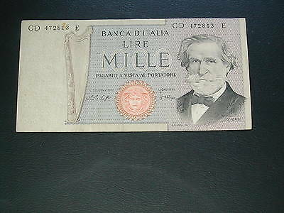 Italy 1000 Lire Banknote 1969