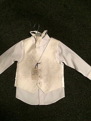 Brand new age 2-3 wedding ivory page boy outfit Xmas party christening