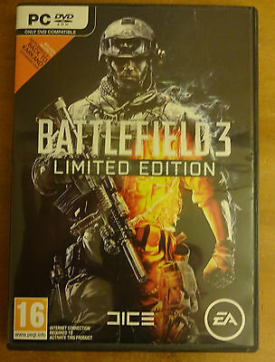 Battlefield 3 Limited Edition PC - New With Back To Karkland Expansion Pack