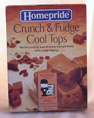 Vintage Packaging Homepride Fred Fudge Crunch Mix & Contents Old Box Advertising