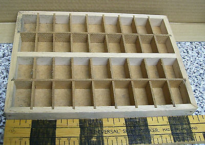 2 Used Wood Letterpress Typeface Sorting Trays Small approx 6 1/4 x 8 1/2 inch