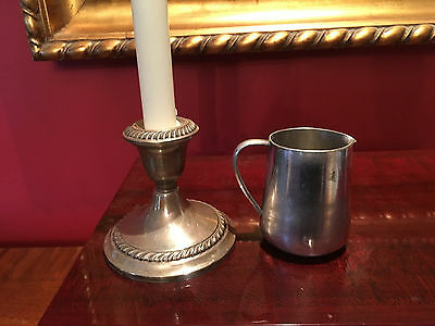 """Estate Sale - Vintage 20s-30s - Victor S Co. 6 oz, Silver Plated Creamer 3"""" Tall"""