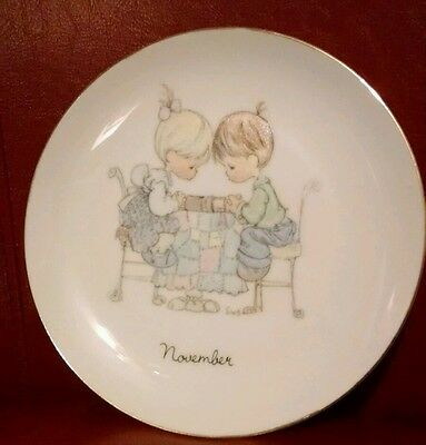 Vintage 1983 Precious Moments  Birthday Plate - November