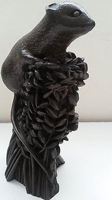Vintage Heredities 1970s Field Mouse cold cast bronze signed Richard Fisher 6in