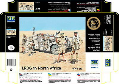 Master Box Model kit #3598 1/35 WWII LRDG in North Africa (5 figures)