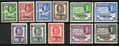 Commonwealth Somaliland 1951 KGVI set of mint stamps to 5s Lightly Hinged