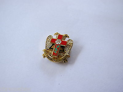 Lapel Pin Masonic ~ Rose Croix ~ Cross Beautiful Multi Tier