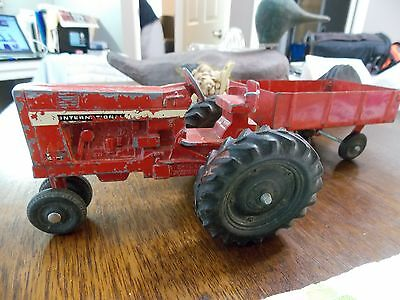 Antique Children's Toy Tractor with Cart