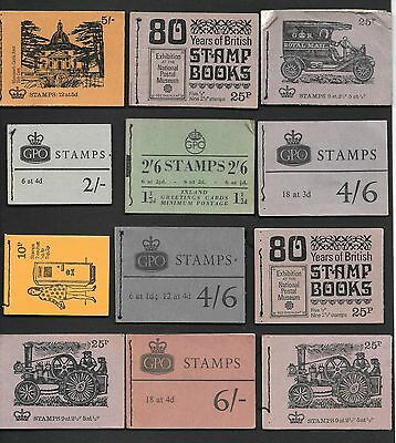 TWENTY THREE BOOKLET COVERS 1952 - 1970's (NO STAMPS)