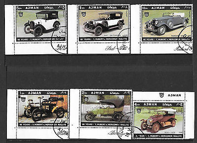Trucial State of Ajman - 1970 stamps featuring Vintage & Veteran Cars