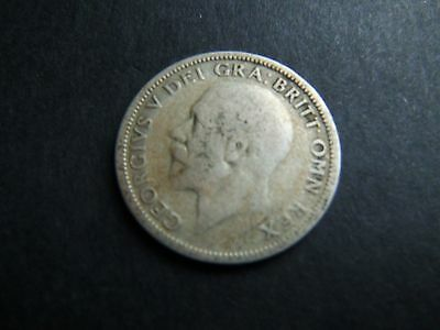 1928 GB Coin KGV One Shilling 1/- .500 Silver Coin Circulated