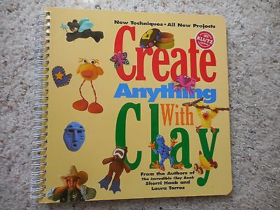 Klutz Create Anything with Clay Book EUC Animals Jewely Doll house furniture +++