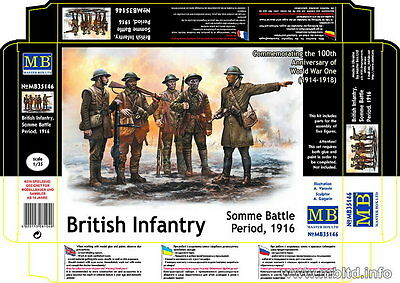 Master Box 1/35 British Infantry in Somme Battle Period 1916 (5 Figures)