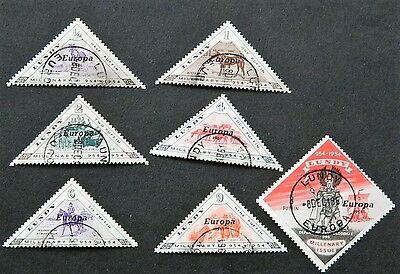 Lundy Europa 1961 overprints,  Used