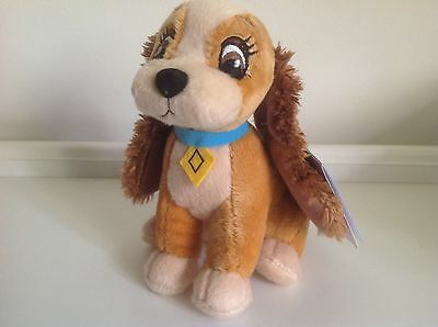 """Disney Lady & The Tramp """" Lady"""" Soft Toy Condition New With Tag"""