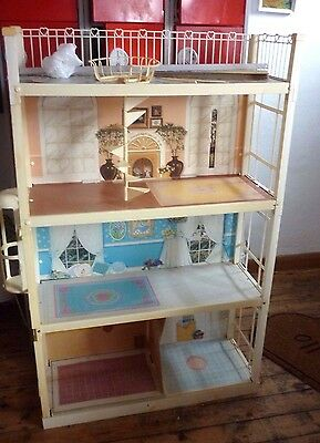 Vintage 1970S's Sindy House Complete With Box , Spiral Staircase, Lift Xmas Gift
