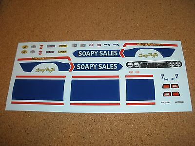 Mpc 1/25 Soapy Sales Dodge Challenger Funny Car Decal Sheet!
