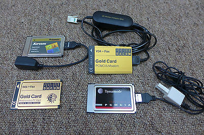 Misc PCMCIA Fax / Modem and Network Interface Cards