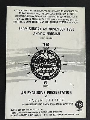 Rave Flyers Haven Stables 1990