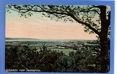 Old Vintage Postcard Inverness From Tomnahurich Inverness-Shire