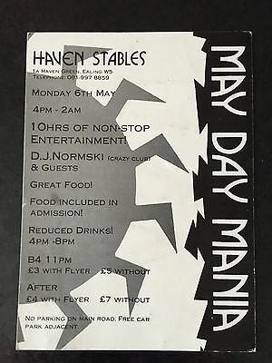 Rave Flyers May Day Mania 1989
