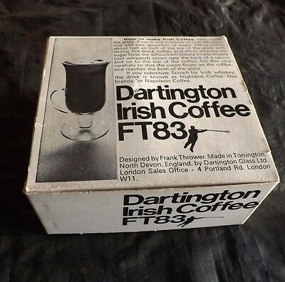 Vintage Dartington Glass  Irish Coffee FT 83 Designed by Frank Thrower boxed
