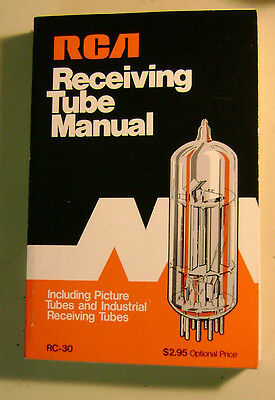1975 RCA Receiving tube manual RC-30 edition- as new