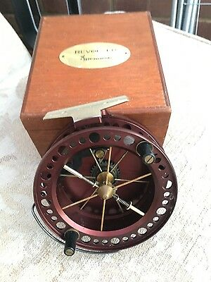 Limited Edition J W Young Browning Revolver Centrepin Fishing Reel Barbel/carp