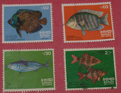 4 sri lanka stamps
