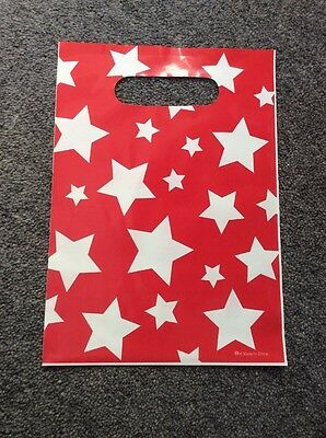 9 Red with White Stars PARTY LOOT BAGS