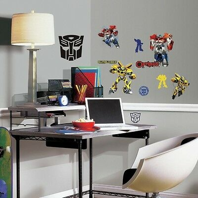 TRANSFORMERS AUTOBOTS 20 Wall Decals Optimus Prime Bumblebee Stickers Room Decor