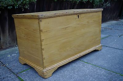 Gorgeous Original Antique Victorian Pine Blanket Box Chest freshly waxed
