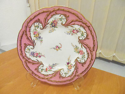 Vintage Decorative  Pink  Gilded  China  Plate