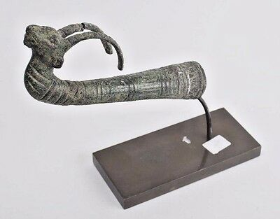 Ancient Luristan Bronze finial of Ibex C.1000 BC.