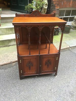 Edwardian Walnut Side Cabinet - drinks cabinet - hall table - books and papers