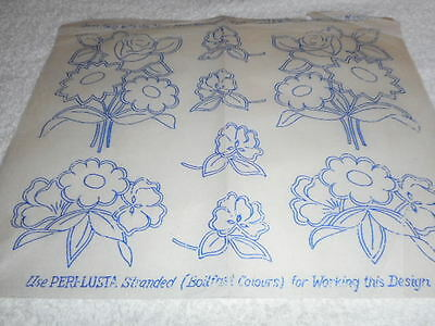 Vintage Embroidery Iron on Transfers- Good Needlework- May 1940 - Flowers