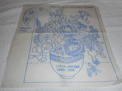 Vintage Embroidery Iron on Transfers- Woman No.MW64D -  Flowers