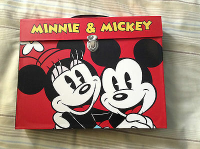 Mickey & Minnie Mouse Colouring Crayon, Pencil & Pen Set in Carry Case