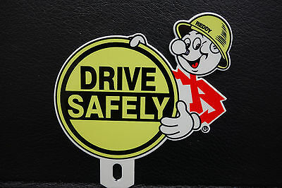 Reddy Kilowatt LICENSE PLATE TOPPER ELECTRIC COMPANY DIE CUT ELECTRICIAN GIFT A