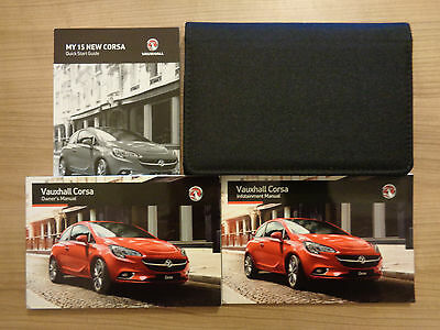 Vauxhall Corsa Owners Handbook/Manual and Wallet 15-16
