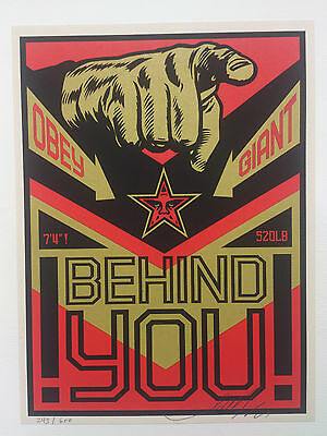 Shepard Fairey (OBEY) Behind You, Sign., dat. num!!!
