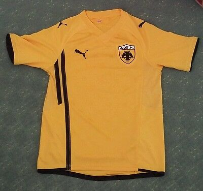 Official Aek Athens Football Shirt Size Small Excellent Condition Puma